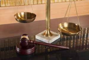 Gavel and scale
