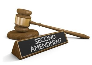 Gavel and a second amendment plaque